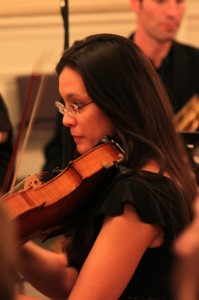 Heather Spencer playing Viola